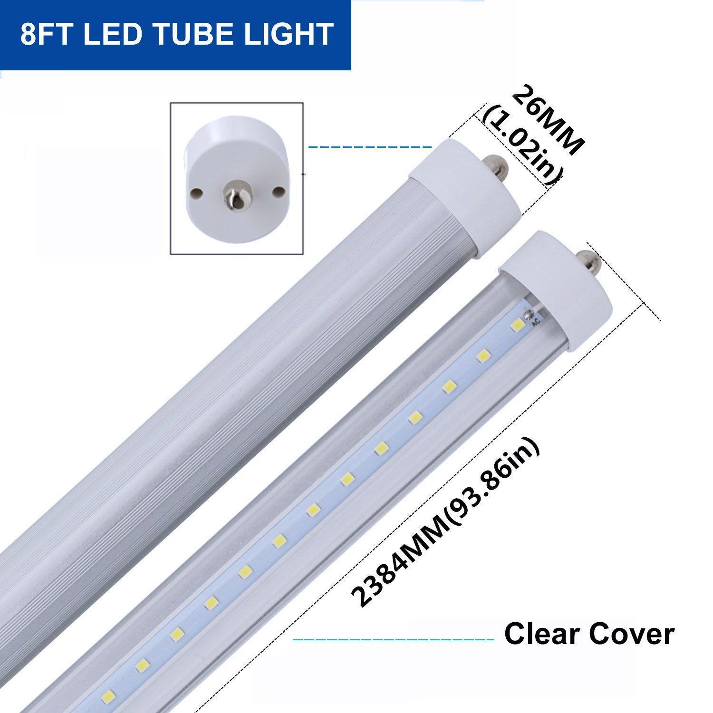 Cnsunway Lighting T8 T10 T12 8ft Led Bulbs  45w 100w Equiv
