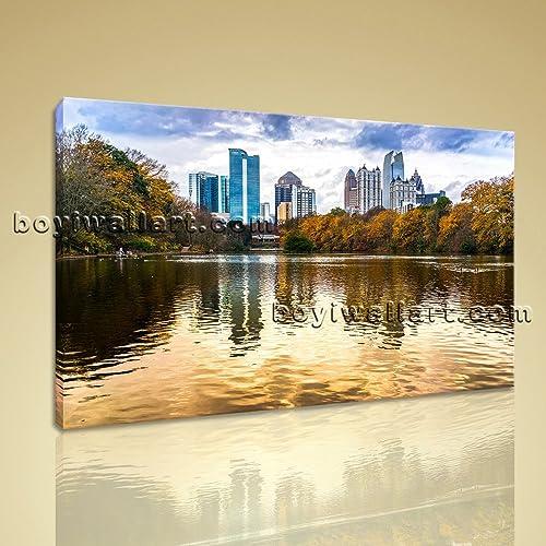 Amazon.com: Large Atlanta Georgia Landscape Wall Art On Canvas ...