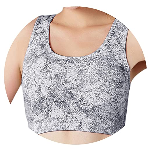 Amazon.com: Lady Sports Bra Jacket Yoga Running Health Print ...