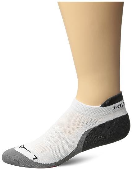 buy popular 28c96 b3a04 Mizuno Running DryLite Race Low Socks, White Red, Small