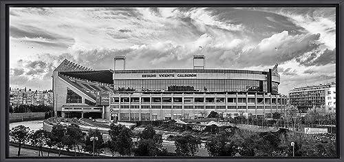 Cuadro enmarcado - Estadio Vicente Calderón Blanco y Negro ...