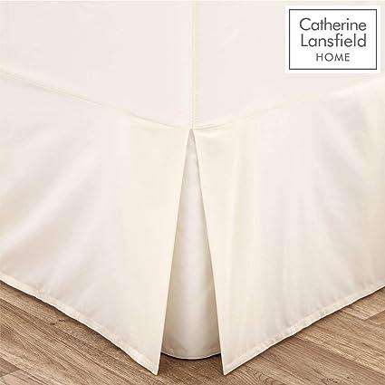 100/% EGYPTIAN Platform Base PLEATED VALANCE Sheet WHITE Color 200 TCALL NEW