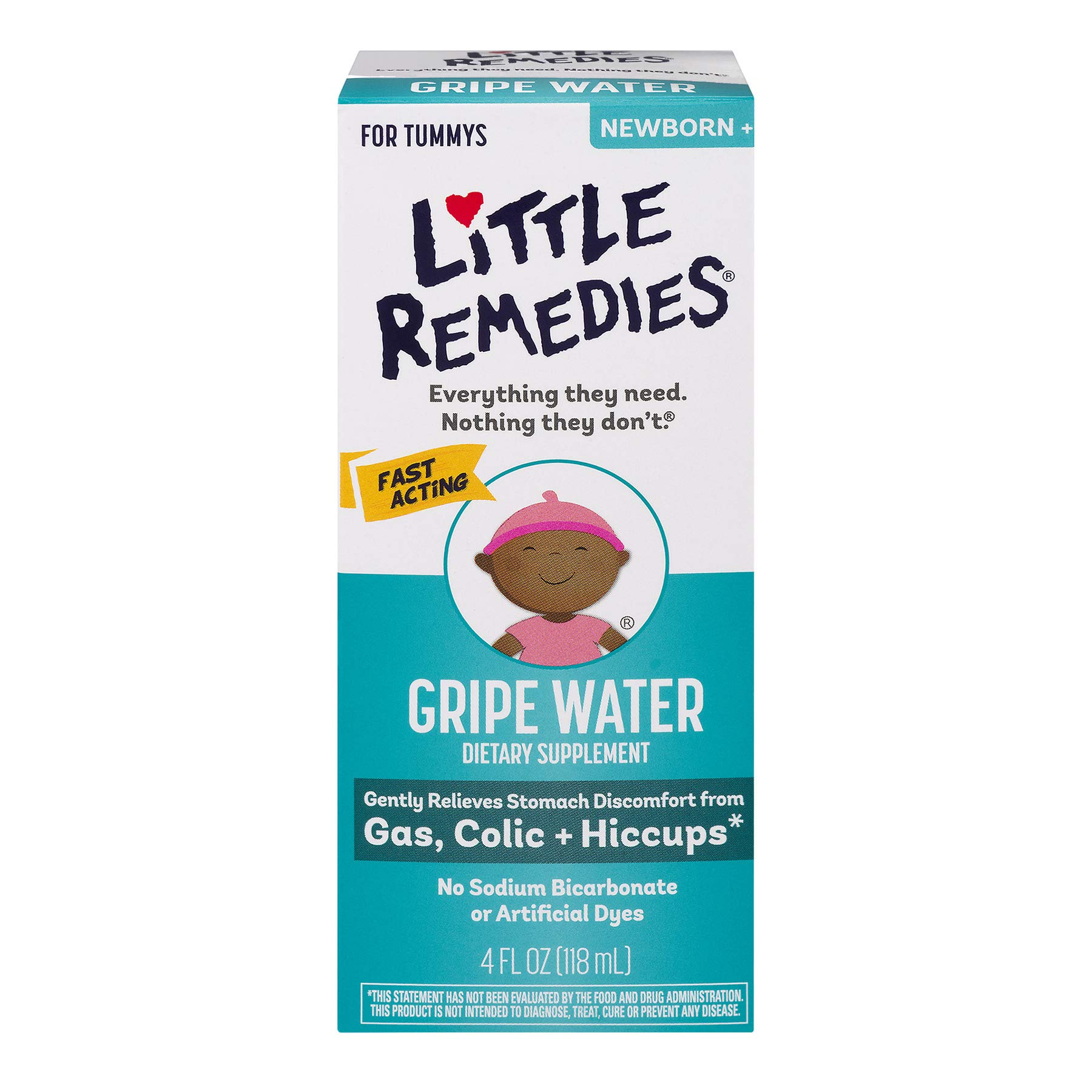 Little Remedies Tummys Gripe Water, 4 Ounce, 2 Pack by Little Remedies