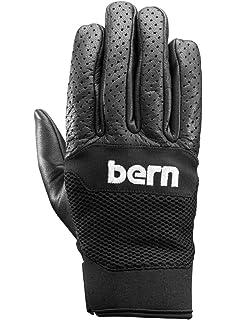 Bern Menu0027s Haight Leather Full Finger Longboard Gloves