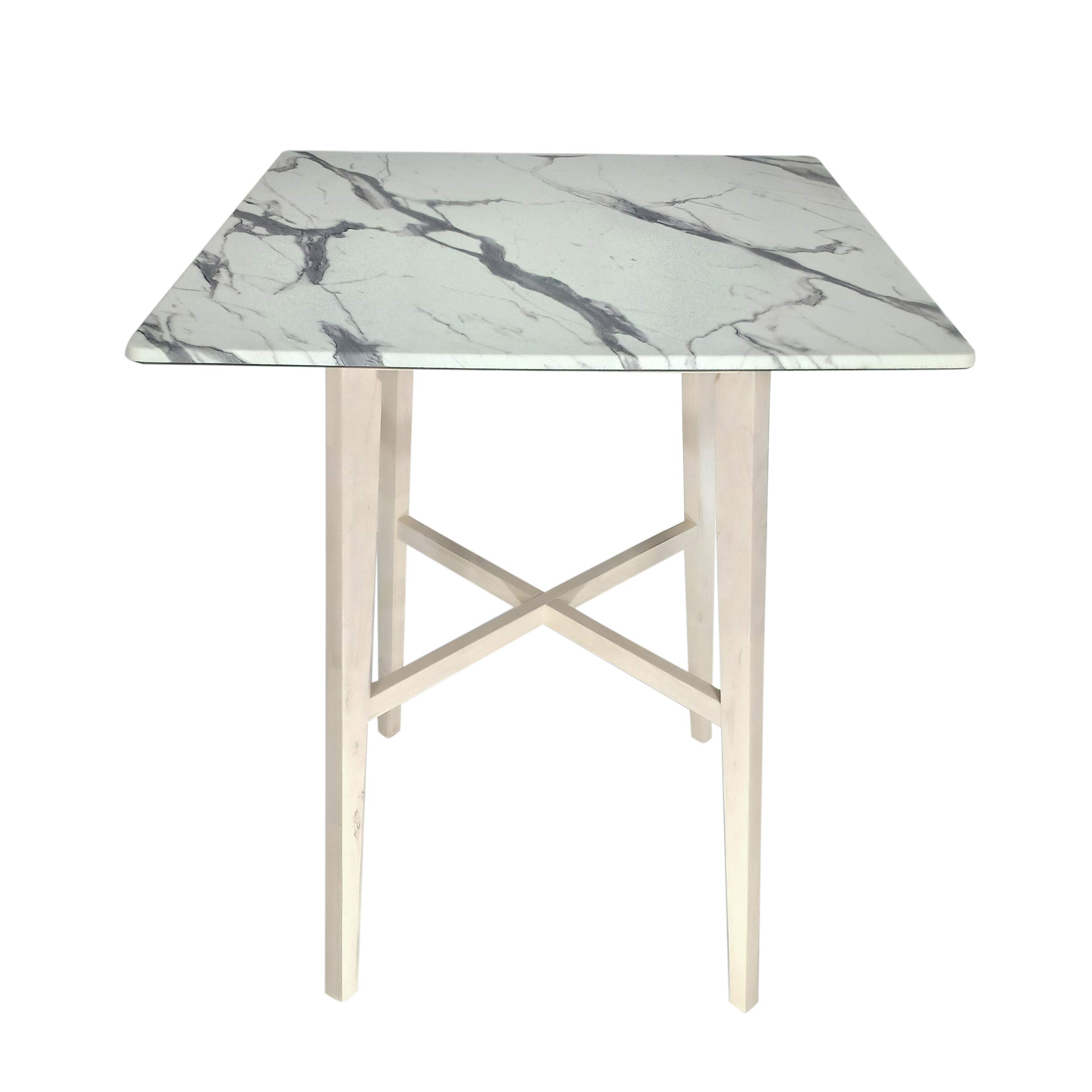 Christopher Knight Home Daisy Modern Bar Rubberwood Legs and Laminate Table Top, Versilia Marble Finish, White Wash by Christopher Knight Home
