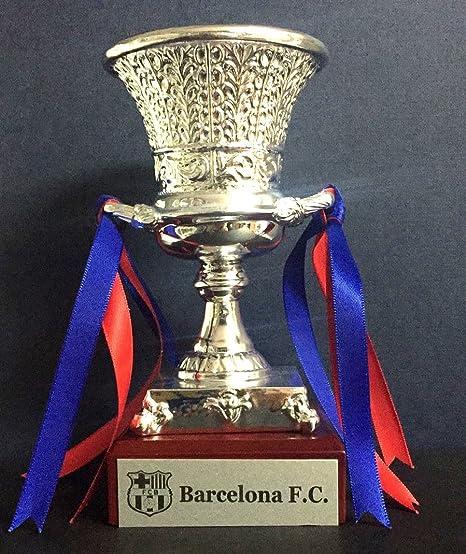 Trofeo SuperCopa 2018 FC Barcelona Replica 15cm Grabado Trofeos Personalizados Trofeos Deportivos Futbol coleccionistas Titulos FC