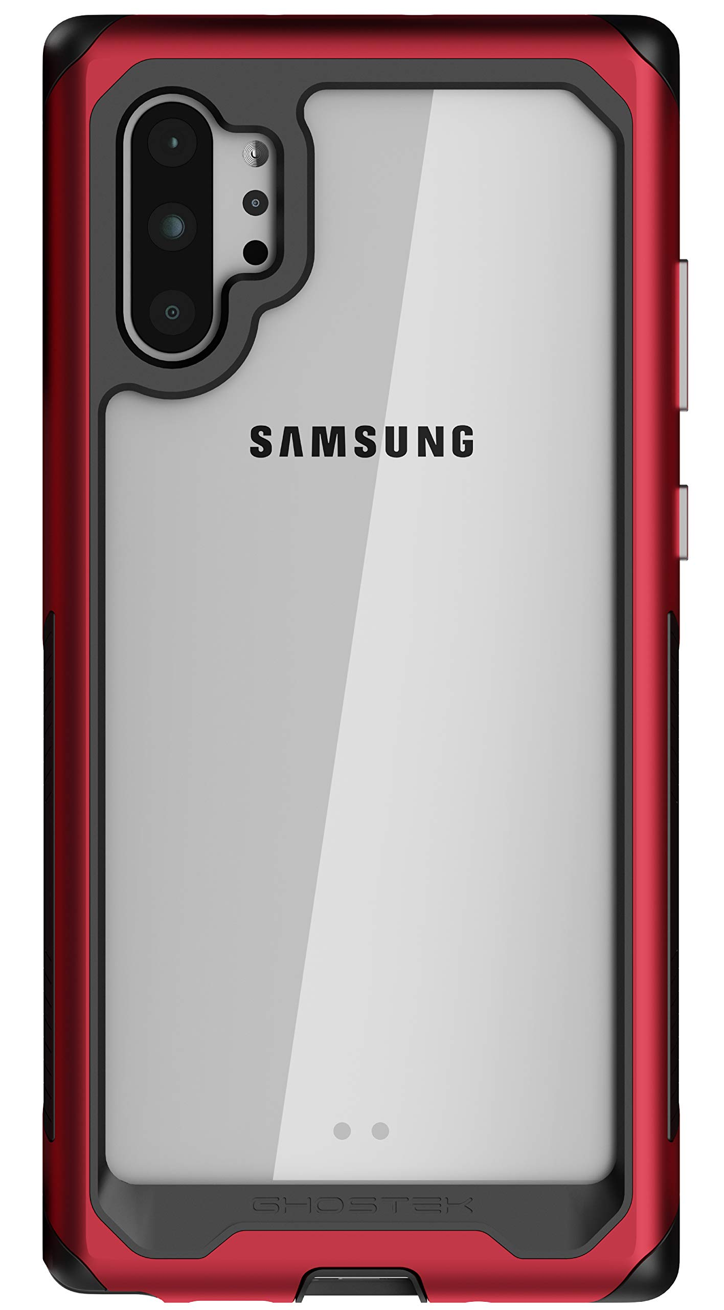 Ghostek Atomic Slim Designed for Galaxy Note 10 Plus Case / Note10+ 5G Clear Metal Bumper with Advanced Reinforced Dual Layer Design & Aluminum Frame for Note 10+ / Note 10 Plus 5G (2019) - (Red) by Ghostek