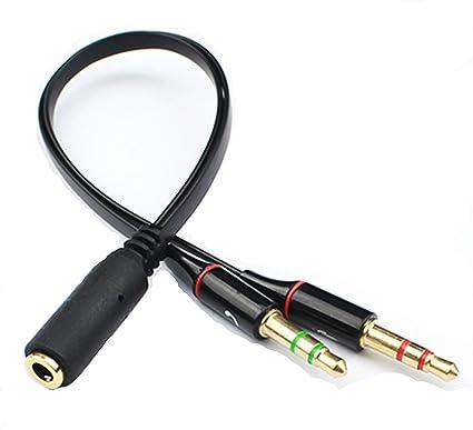 CAOLATOR Adaptador Divisor de Mic y Audio,Adaptador de Auriculares de 3,5 mm