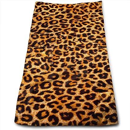 "ewtretr Toallas De Mano,Leopard Print Microfiber Beach Towel Large & Oversized - 11.8"""