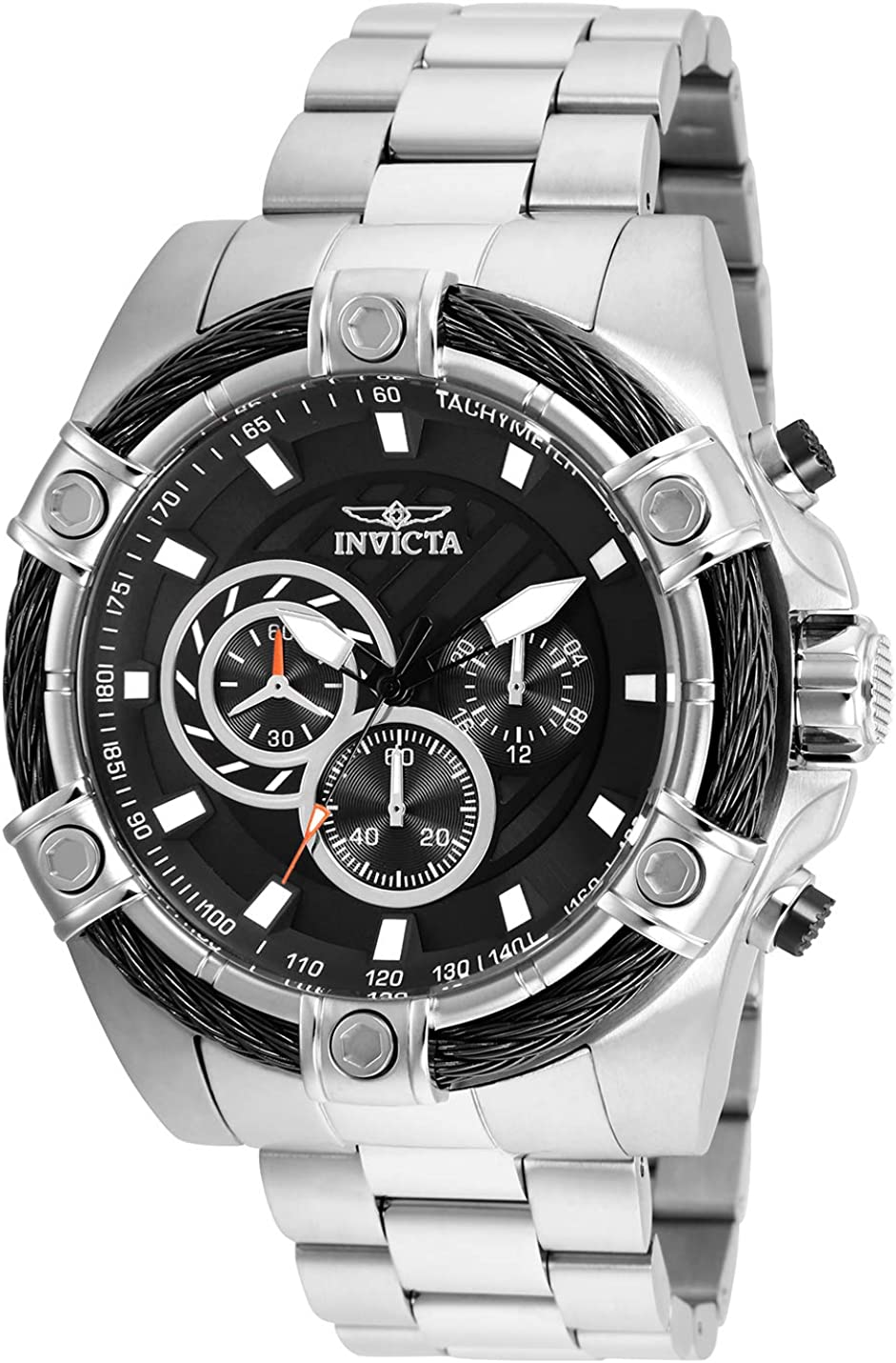 Invicta Men s Bolt Quartz Watch with Stainless-Steel Strap, Silver, 1 Model 25512