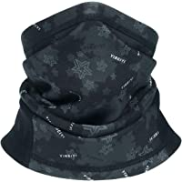 YIBEIYI Fleece Neck Warmer Men - Windproof Neck Gaiter Face Mask for Cold Weather - Face Scarf for Winter Outdoor Activities