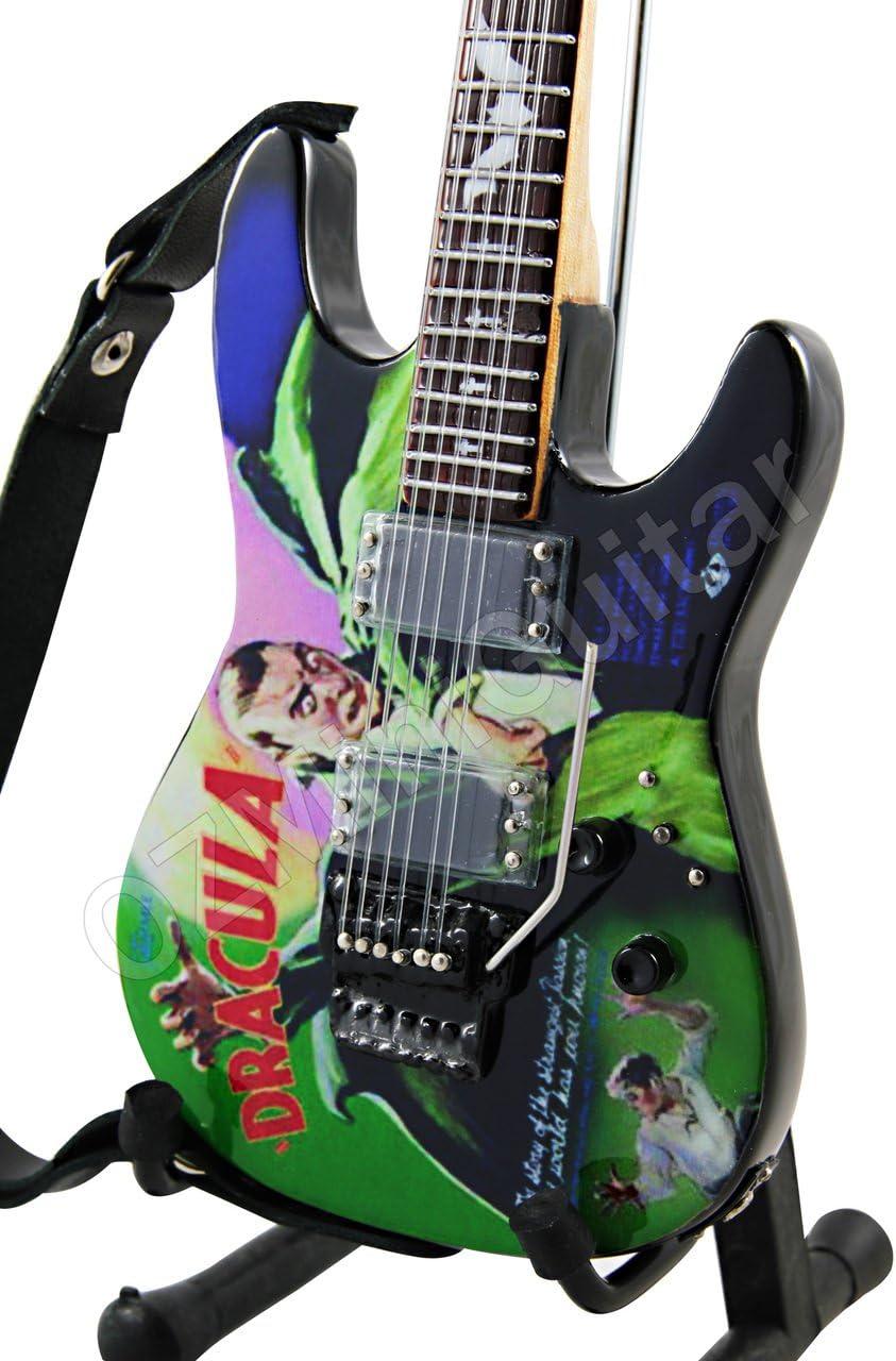OZMiniGuitar Guitarra en miniatura Kirk Hammett Metallica Dracula Art Style