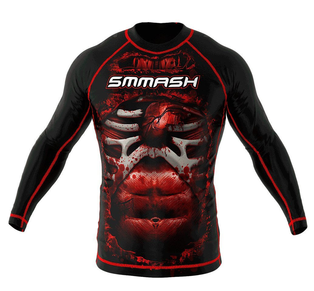 Image of SMMASH Long Sleeve Rashguard BLOOD 3.0
