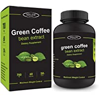 Sinew Nutrition Green Coffee Beans Extract 700mg (60 Count), 100% Pure & Natural Weight Management & Appetite Suppressant Supplement