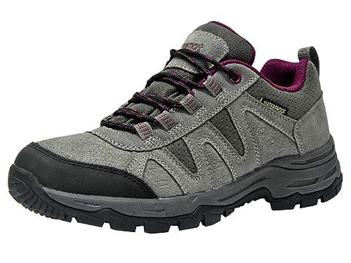 Zapatillas Trekking para Mujer Zapatos de Senderismo Calzado de Montaña Escalada Aire Libre Impermeable Ligero Antideslizantes Zapatillas de Trail Running: ...