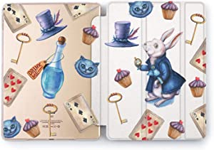 Wonder Wild Case Compatible with Apple iPad Alice Style 9.7 Pro inch Mini 1 2 3 4 Air 2 10.5 12.9 11 10.2 5th 6th Gen Hard Cover Mythic Creature Rabbit Hole Cheshire Cat Crazy Hatter Wonderland