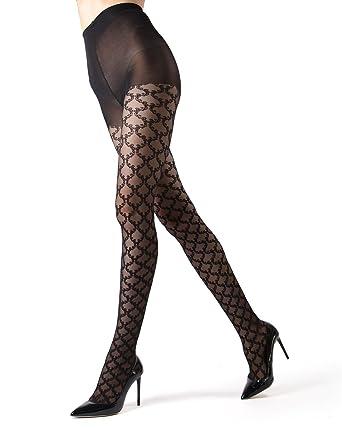 6a8b8de7c MeMoi Lace Sheer Tights - Women's Premium Hosiery - Nylons at Amazon ...