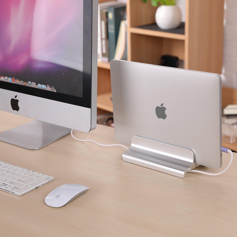 Vogek - Soporte Vertical para Ordenador portátil con Soporte de Almacenamiento Multifuncional para MacBook Pro, Retina, Air, Huawei y Todos los Ordenadores ...