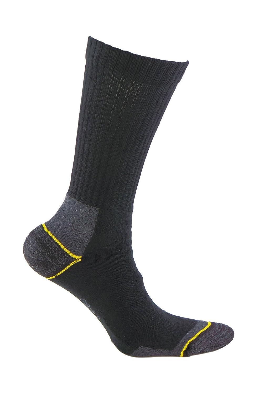 3 pares SIN COSTURAS para todo el a/ño ideal para el uso con calzado de seguridad y para deportes de invierno o situaciones de fr/ío y humedad. Calcetines de TRABAJO con tal/ón y puntera reforzados