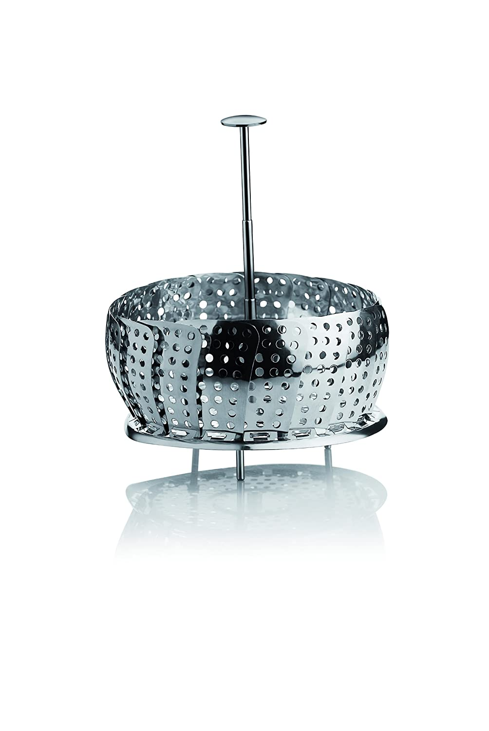 Barazzoni Baskets for Steaming Food with Telescopic Handles, Nickel-Free Stainless Steel, 23 cm