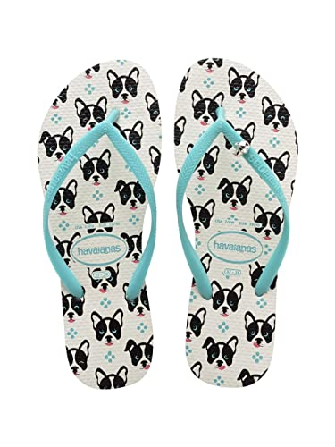 ec2aebefa3fa5 Havaianas Womens Slim Pets White Flip Flops Sandals  Amazon.co.uk ...