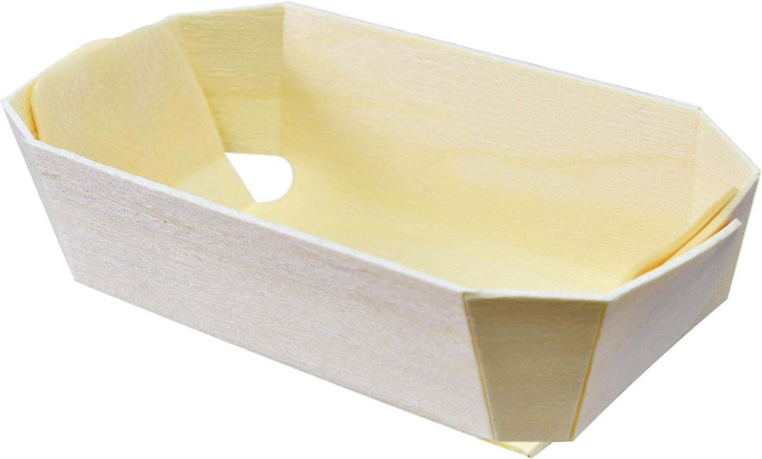 36 Count Panibois Tom Pouce 3.5 Ounce Wooden Baking Mold with Paper Liner
