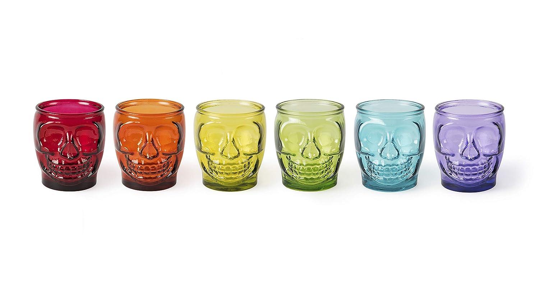 Juego de 6 vasos de cristal Excelsa Calavera