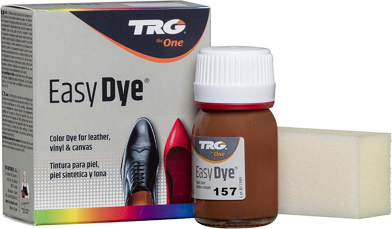 TRG The One - Tinte para Calzado y Complementos de Piel   Tintura para zapatos de Piel, Lona y Piel Sintética con Esponja aplicadora   Easy dye, 25 ml