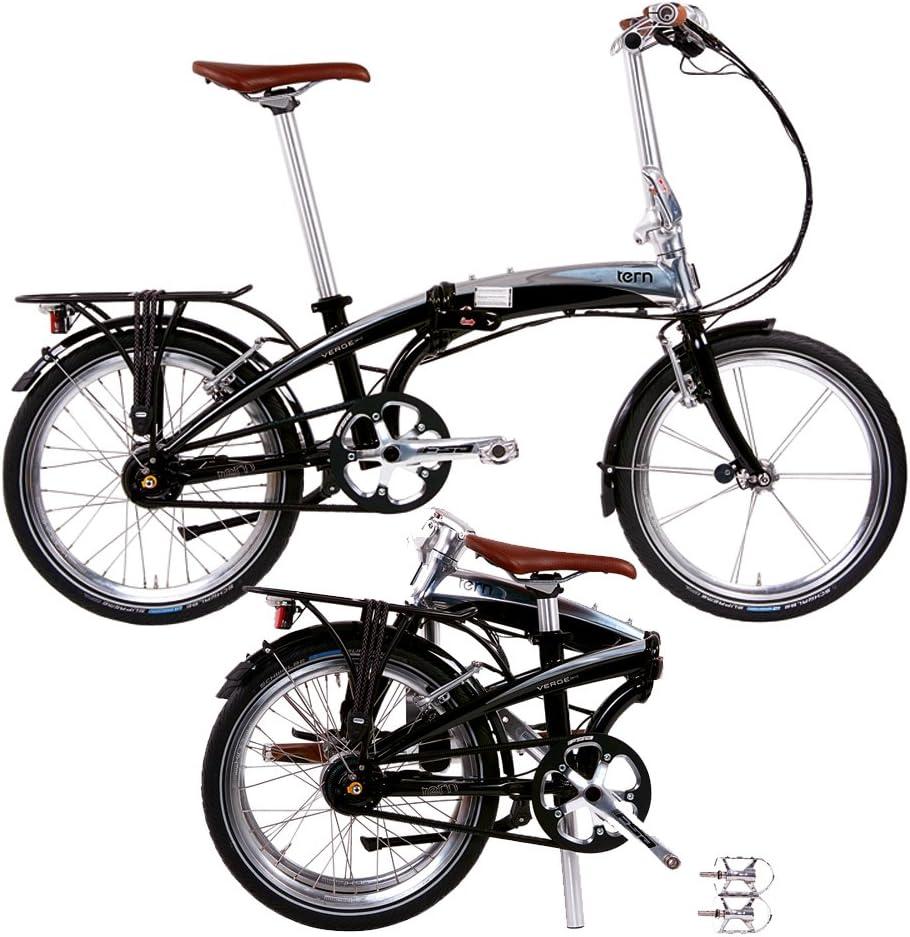 Tern Verge Duo - Bicicleta Plegable, Color Negro