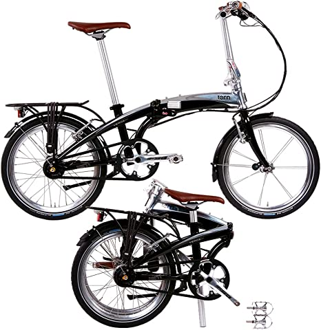 Tern Verge Duo - Bicicleta Plegable, Color Negro: Amazon.es ...