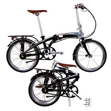 Tern Verge Duo - Bicicleta Plegable, Color Negro