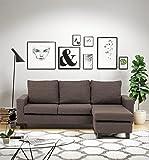 Abakus Direct | Capri Corner Sofa Left or Right, Chocolate Brown, Dark Grey, Light Grey or Black (Brown)