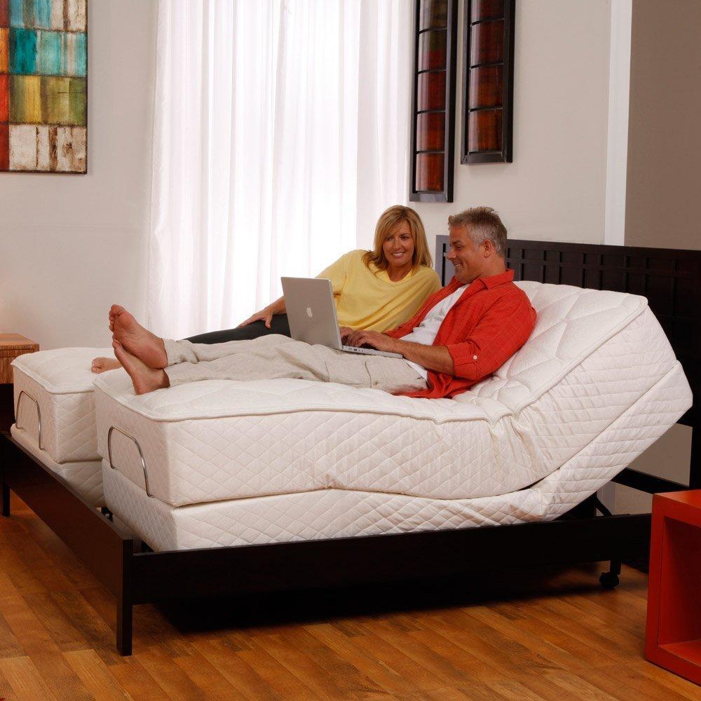 amazoncom leggett and platt scape adjustable bed base base only split king kitchen u0026 dining
