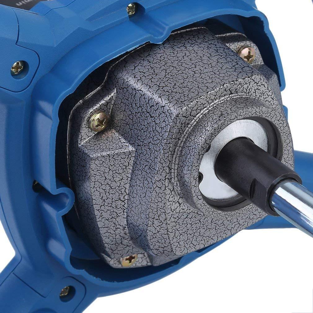 Homgrace 1600W Mezclador Batidor para Pintura Mortero con Agitador, 220V (1 X Varilla Mezcladora)