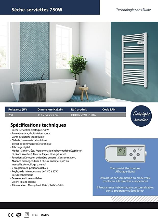 Cayenne toallero Jupiter (LCD - 500 W: Amazon.es: Bricolaje y herramientas