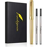 Nekigoen Rollerball Pen for Men Women Executive Home Office Use, with Gift Box and 2 Extra Refills Black Ink 0.7mm G2