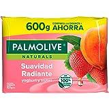 Palmolive Naturals Jabón de Tocador en barra Aroma Yoghurt y Frutas, Fabricado responsablemente, con humectante natural, Frag