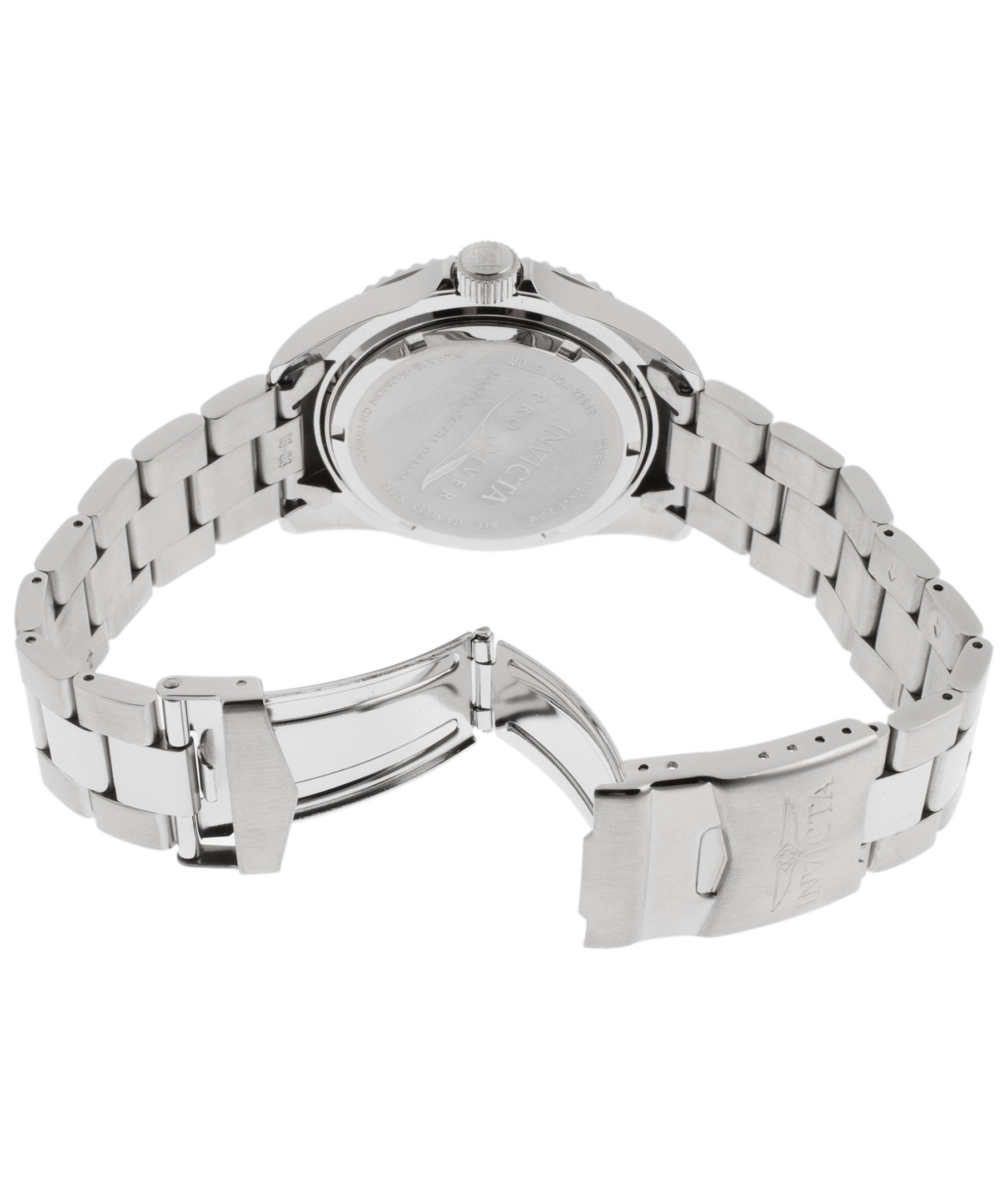 Invicta Men's Pro Diver Quartz Diving Watch with Stainless-Steel Strap, Silver, 22 (Model: 22048) by Invicta (Image #3)