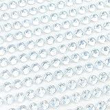 Finov 1500 Pieces of 5mm Self Adhesive Rhinestone Strips Round Stick on Gems (Clear)