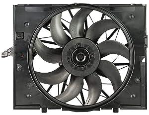 TOPAZ 17427543282 Radiator Brushless Motor Cooling Fan for BMW E60 E61 E63 E64 E65 E66 525 545 645 750