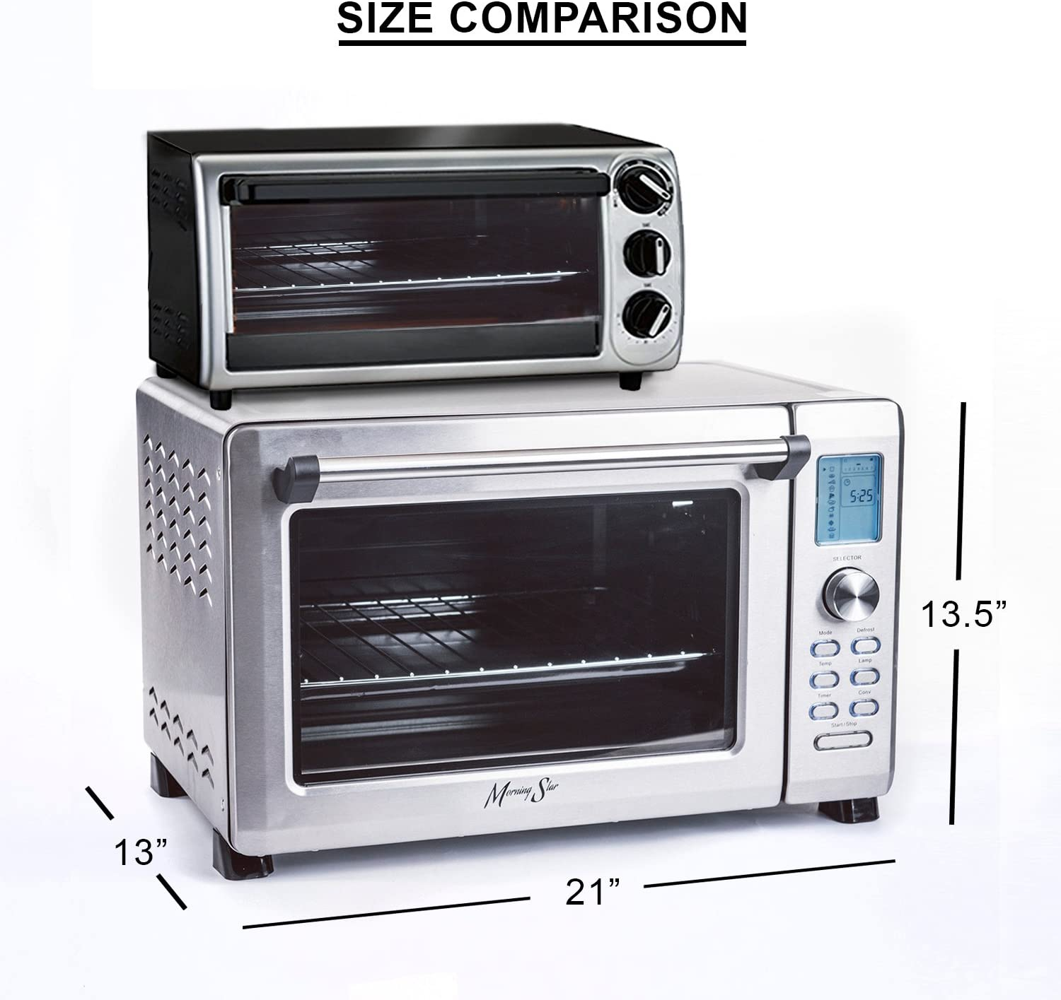 Size and Functions of a toaster oven
