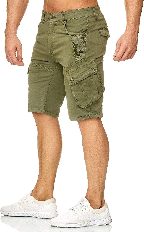 EGOMAXX Herren Cargo Shorts Chino Bermuda Kurze Hose Stretch Sommer