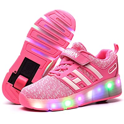 d61c0db935a3 A2kmsmss5a Kids LED Light Flash Girls Boys Sports Shoes Roller Skate LED  Shoes