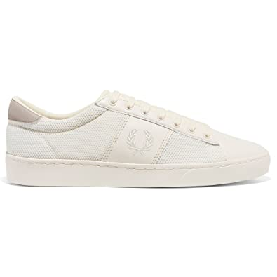 Fred Perry Spencer Couleur Crudo Skin and Mesh. Sneakers pour Les Hommes. Sneaker Tennis. (45 EU, Light Ecru)