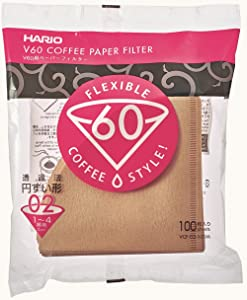 Hario V60 Paper Coffee Filters Size 02 Natural, Tabbed