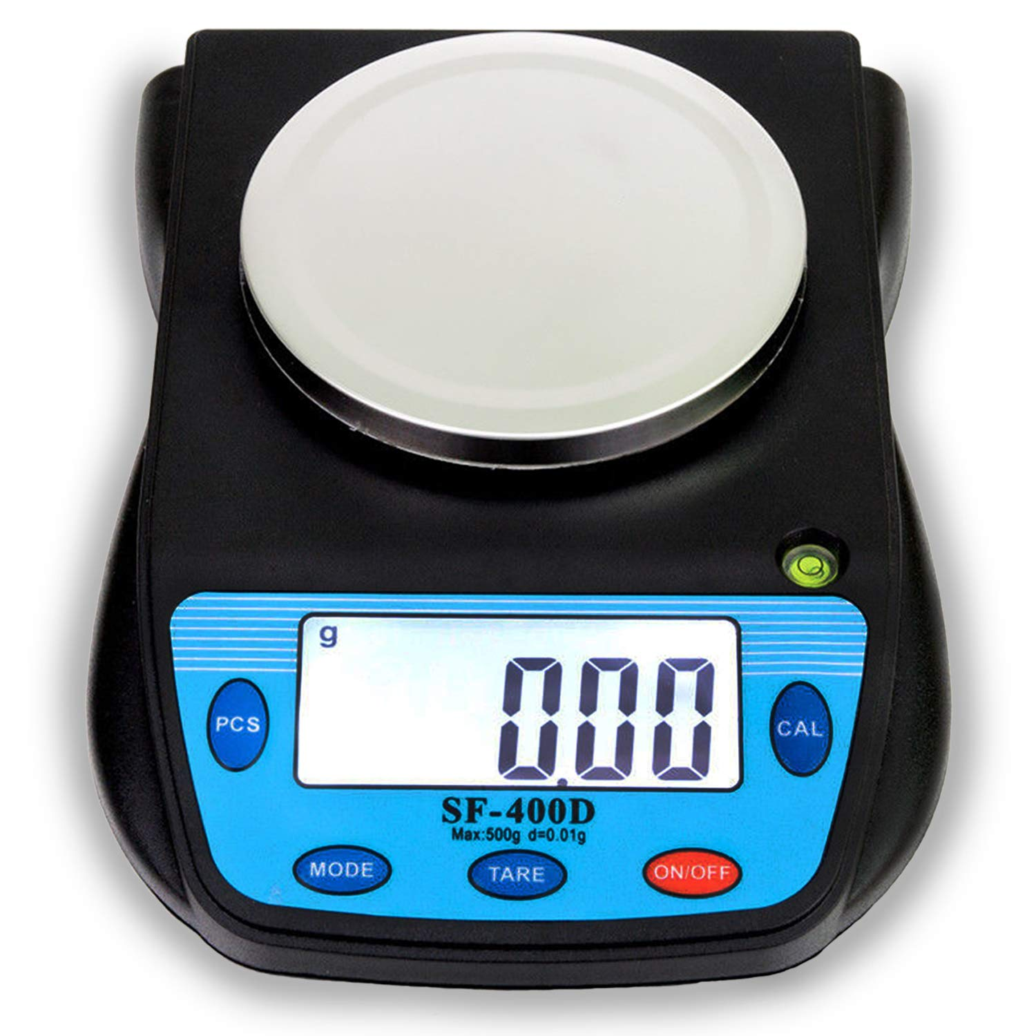 500g x 0.01g High Precision Laboratory Analytical Digital Balance Scale with LCD Display, Multifunctional Electronic Compact Lab/Food/Kitchen/Postal Scales, Tare Function, AA Batteries Included