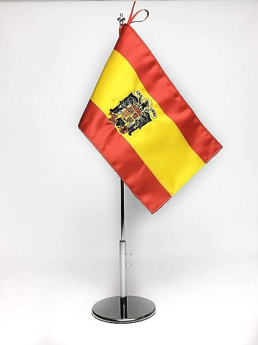 ABBE Global Bandera de Mesa Bordada de España Franco 15x25 y mástil: Amazon.es: Hogar