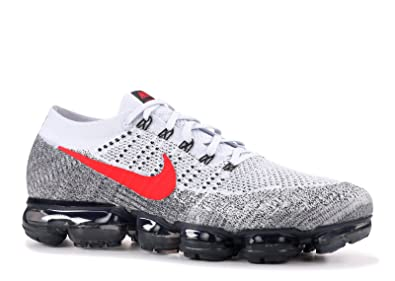 the latest c54d1 6dd82 Image Unavailable. Image not available for. Colour  SasleTOPS Air Vapormax  Flyknit Pure Platinum University Red 849558 020 Mens Running Shoes