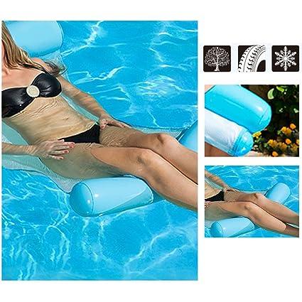 Pueri Flotador Hinchable de Piscina Hamaca Portátil Hinchable Colchonetas Gigantes para Playa con Bomba Pequeña: Amazon.es: Bebé
