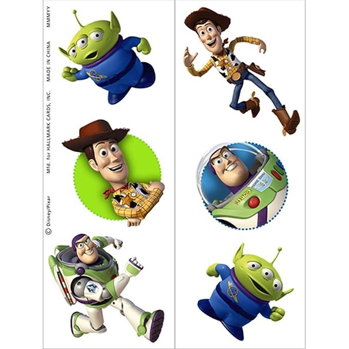 Disney Toy Story Temporary Tattoos (tatuajes temporales): Amazon ...